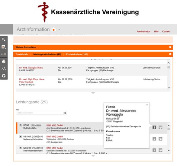 Entwicklung Arztinformationssystem und Web Framework