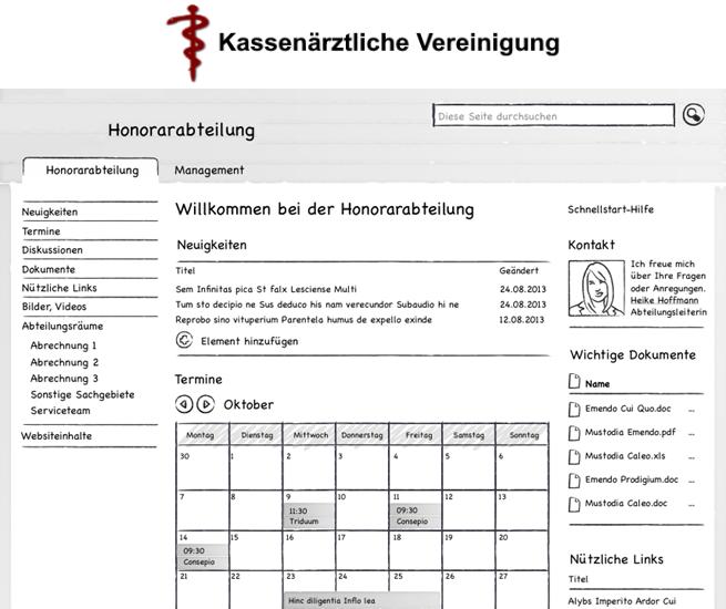 Entwicklung Kollaborationsplattform für Abteilungsräume